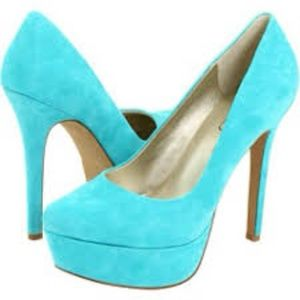 Jessica Simpson Suede Leather Platform Stilettos